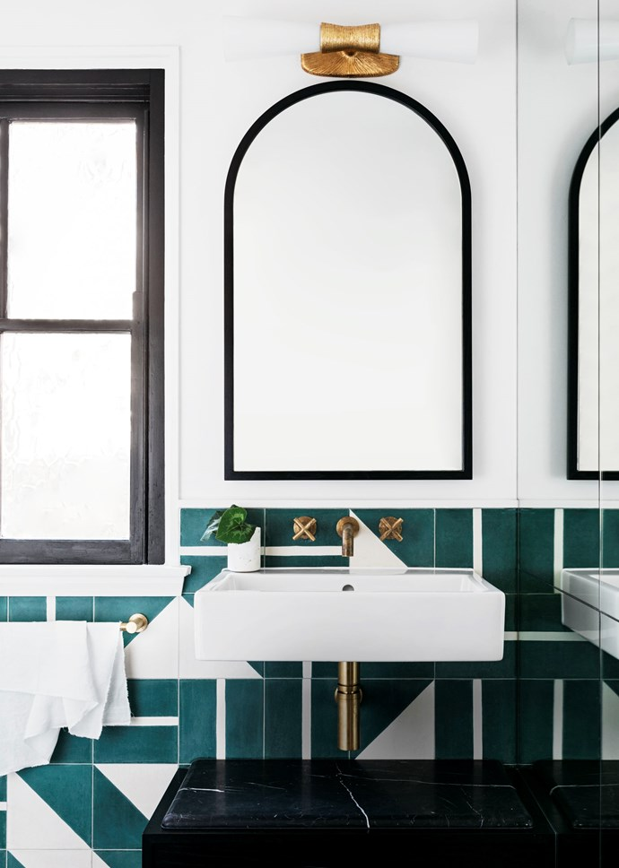Sydney bathroom by Arent & Pyke and Luke Maloney Architecture. Photograph by Felix Forest. Styling by Claire Delmar. From *Belle* April 2018.