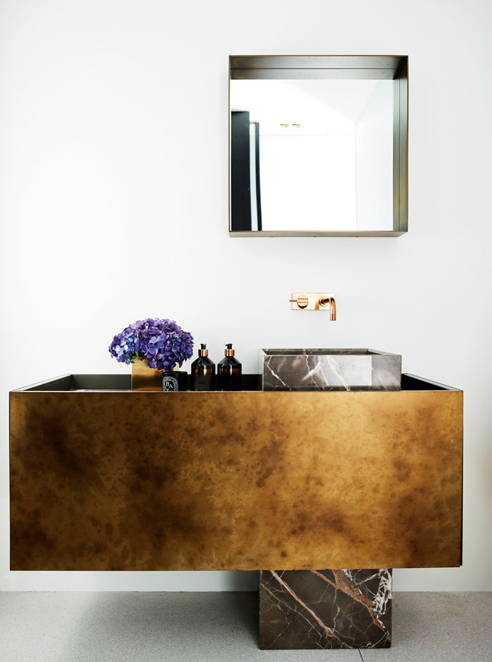 Sydney bathroom by Justine Hugh-Jones Design and Shaun Lockyer Architects. Photograph by Anson Smart. From *Belle* April 2018.