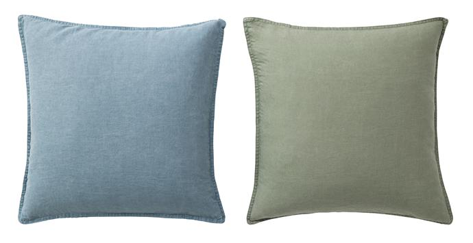 Cushion covers, $19.99 each.