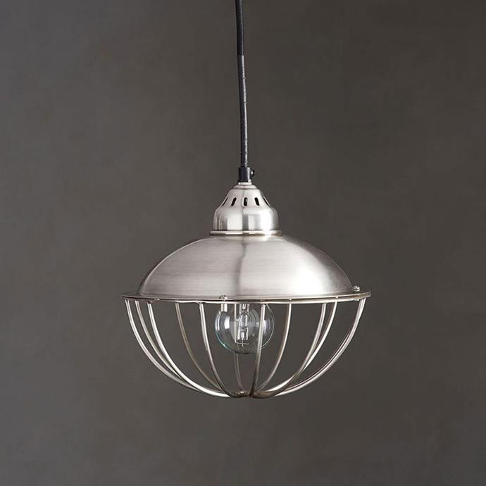 "Jordyn Caged Metal Pendant, $65, from [Pottery Barn](https://rstyle.me/n/cz556fvs36|target=""_blank"")."
