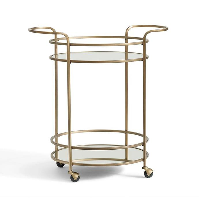 "Tristan Bar Cart, $534, from [Pottery Barn](https://rstyle.me/n/cz558uvs36|target=""_blank"")."