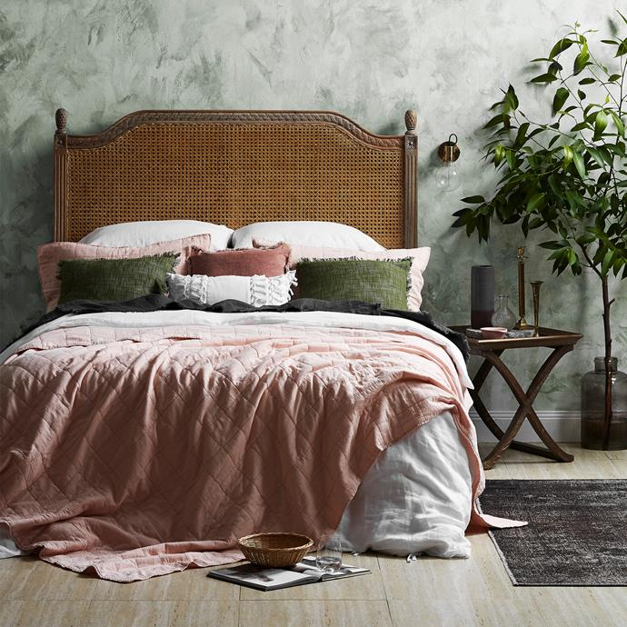 """**French Provincial Toulouse Rattan Headboard from Temple & Webster** Is French Provincial style more your thing? This stunning woven timber bedhead with vintage distressing evokes old-school charm and a sense of romance. $829, [Temple & Webster](https://www.templeandwebster.com.au/French-Provincial-Toulouse-Rattan-Headboard-MBED-65-HUDA1237.html?refid=GPAAU447-HUDA1237_11997746_11997749&device=c&ptid=403617124268&PiID%5B%5D=11997746&PiID%5B%5D=11997749&gclid=EAIaIQobChMIsNet_86B2gIVlRO9Ch2O0gKREAYYBSABEgL38vD_BwE