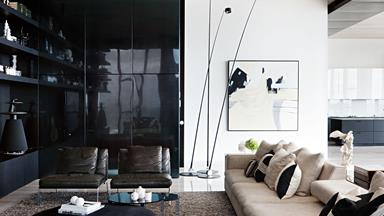 Revamp of a Melbourne penthouse with monochromatic decor