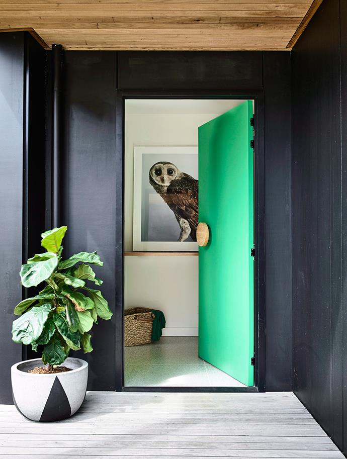Front doors are not simply about practicality — they're also an opportunity to set the tone of your home. Bold colours and oversized doorknobs can make an instant impression and give your home added wow factor. Adding a matte colour will give your entryway a masterpiece finish and is a clever way to disguise any bumps or lumps on the door's surface. For a more subtle take, keep your door the same palette as its surrounds but apply a matte top coat. *Photography: Derek Swalwell / Bauersyndication.com.au*