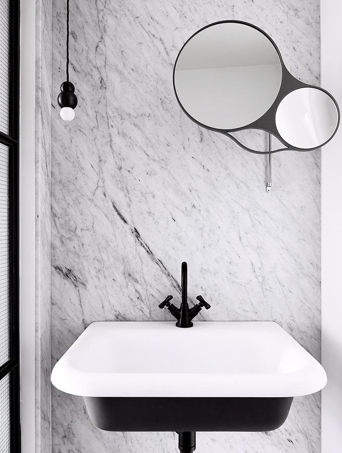 Black matte tapware has continued to be a popular choice in bathrooms due to its timeless appeal. The bold finish reads edgy yet elegant and immediately gives dated bathrooms or kitchens a contemporary feel. And the simple update is a great option if you're on a strict budget. *Photography: Shannon McGrath / bauersyndication.com.au*