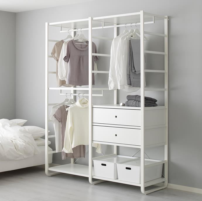 IKEA have a great range of clothes storage systems that can be customised to suit your needs.