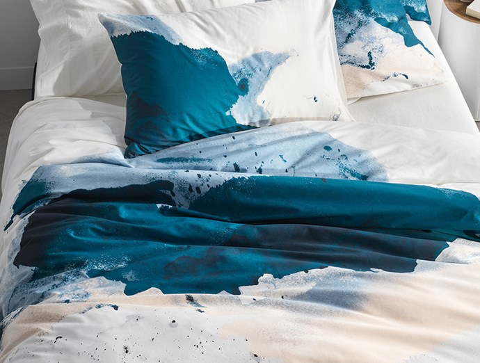 "Inspired by the stunning colour palette found on Kangaroo Island, Jarret explores the stunning shoreline, salt textures on rock formations and the ocean blues in a beautiful watercolour technique. **SHOP NOW:**[Jarrett Quilt Cover](https://www.sheridan.com.au/jarrett-quilt-cover-s0aj-b110-c194-520-multi.html|target=""_blank""