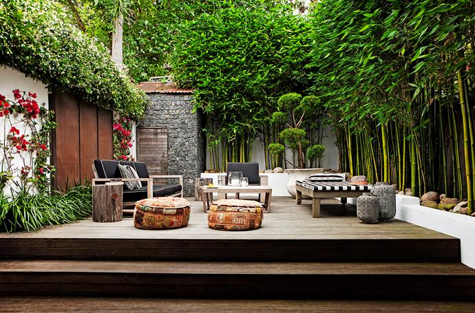 Bamboo screening became popular in the 90s, tying in with the tropical garden trend.