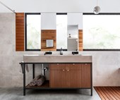 A Japanese-inspired bathroom in rural New South Wales