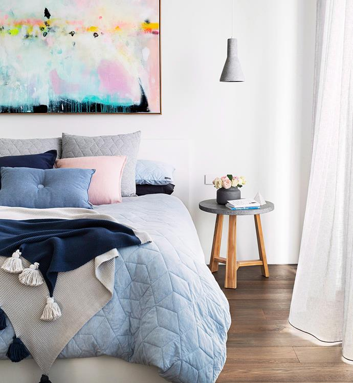 Space-saving hanging lights will give your bedroom a contemporary update. *Photo: Martina Gemmola / Bauer Syndication*