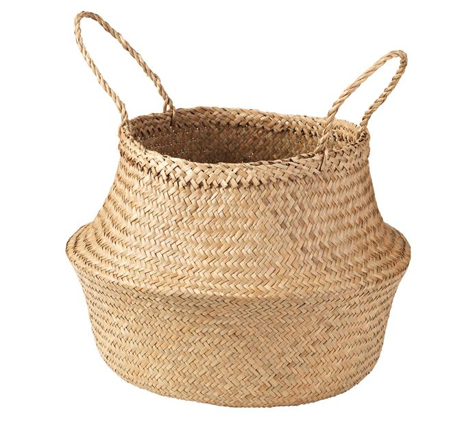 The multifunctional FLADIS Basket, $11.99, is great for storing bits and bobs and adds a natural touch to any space.