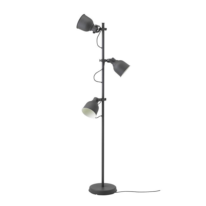The HEKTAR Floor Lamp with 3 spot, $99, allows you to switch each of the lamp heads on or off individually and direct the lights wherever you want - perfect for creating warmth and ambience.