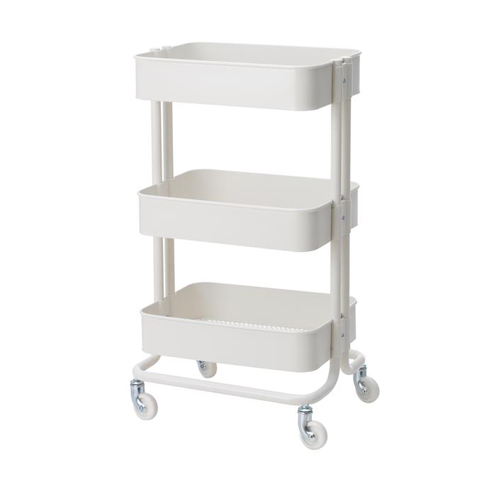 The RASKOG Trolley, $69, fits in the smallest of spaces and can be moved to wherever you need it. Use it as extra storage for all your kitchen utensils, desk accessories or for gloves, keys and mobile phones.