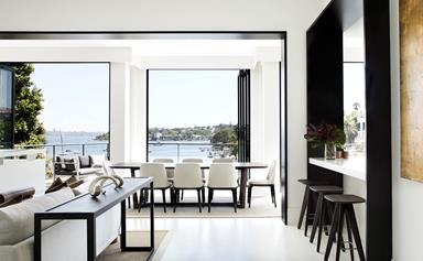 A luxurious resort-style home overlooking Sydney's Parsley Bay