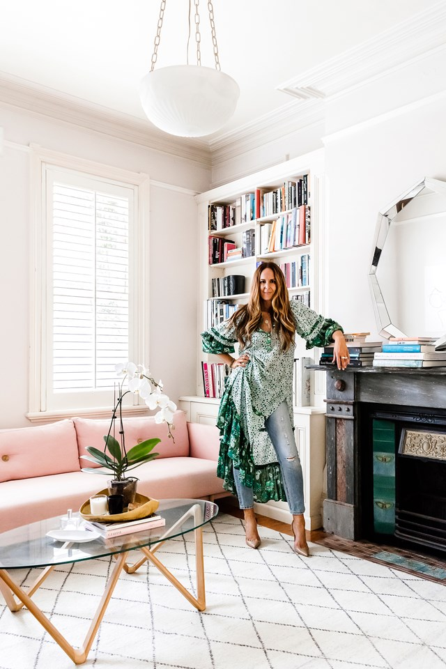 "With its many prints, splashes of colour and rich textures, the stylish [home of fashion influencer Tash Sefton](https://www.homestolove.com.au/tash-seftons-stylish-sydney-home-6549|target=""_blank"") is artfully pieced together, echoing her enviable wardrobe. *Photo:* Maree Homer"