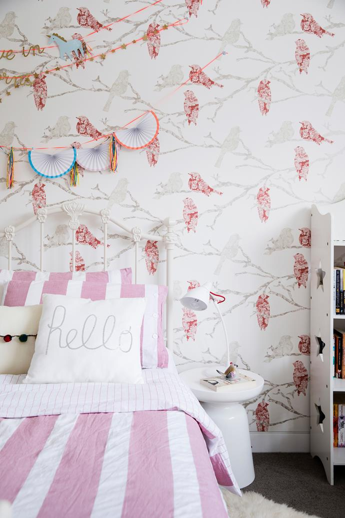 Whimsical yet sophisticated, the Decor Maison 'Spirit of Adventure #113035' wallpaper from Scandinavian Wallpaper & Décor strikes the perfect note for a young teen.