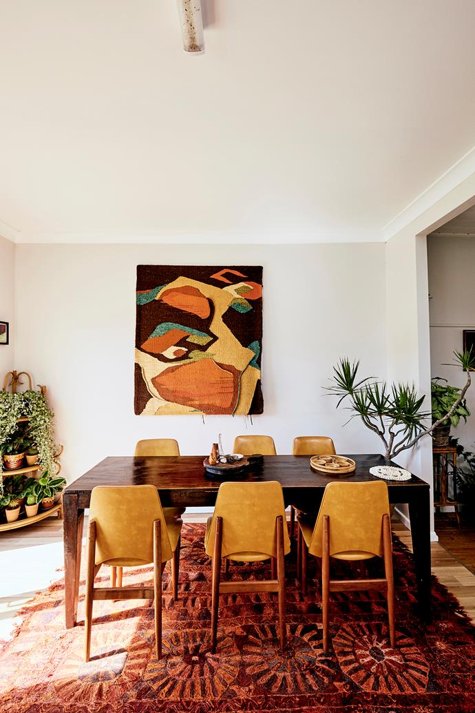 Ana has furnished her home with vintage finds that she's collected over the years. She picked up her dining chairs from her local Salvos for $10 each!