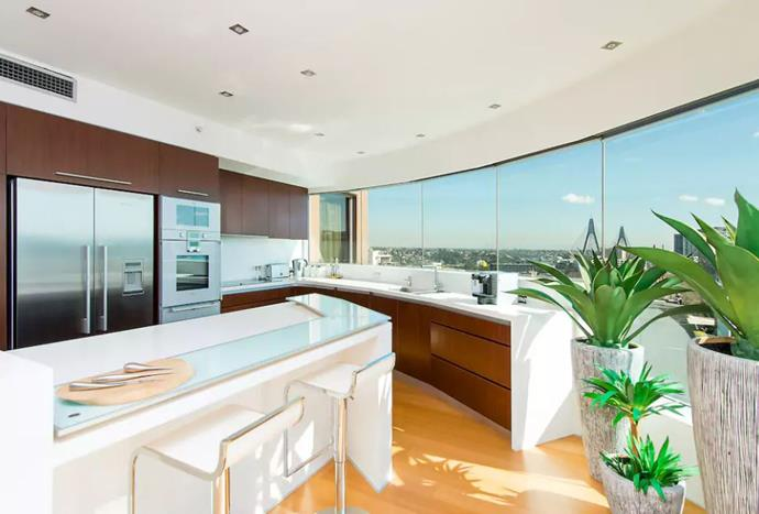 """**[Pyrmont, New South Wales](https://www.airbnb.com.au/rooms/13592555?location=Australia&s=U5X7a8re target=""""_blank"""")** <br><br> With views of Darling Harbour, this modern apartment can house six guests and features three bedrooms and two and a half bathrooms. With close access to the city centre of Sydney, this luxurious accommodation is perfect for couples, business travellers or families.  <br><br> Price: from $600 per night."""