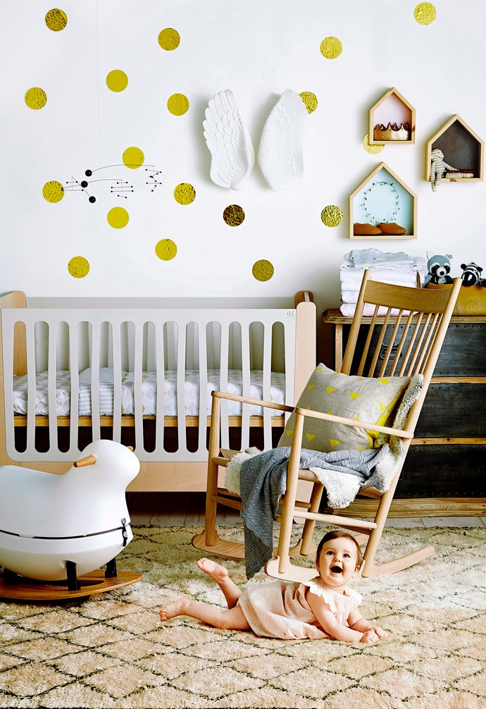 Wall decals are a great way to add some personality to a nursery room and can be easily removed when your child outgrows them.