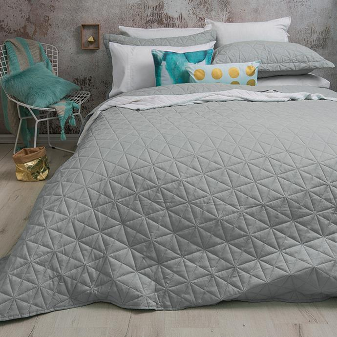 """Silver Regent Double **Coverlet Set** by Bambury, $69.95, from [Temple and Webster](http://www.bedbathntable.com.au/20000903 target=""""_blank"""" rel=""""nofollow"""")."""