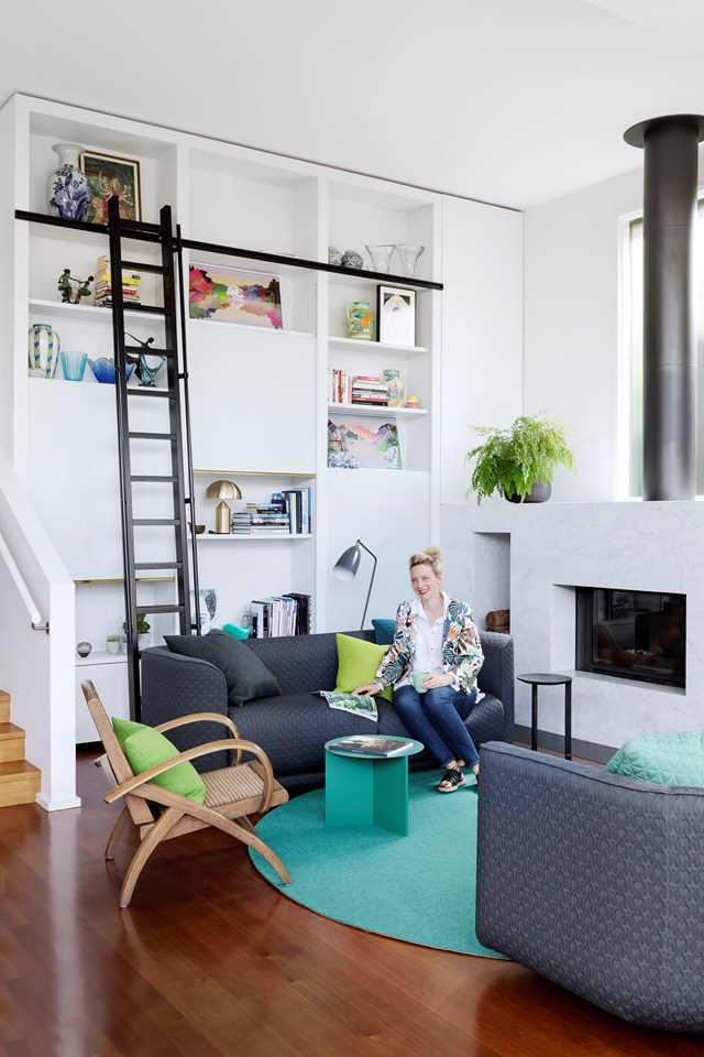 """Incredibly high ceilings in this [vibrantly renovated Melbourne home](https://www.homestolove.com.au/a-vibrant-renovation-of-a-weatherboard-home-in-melbourne-6631