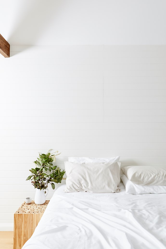 Eucalyptus sheet set in white, from $169.