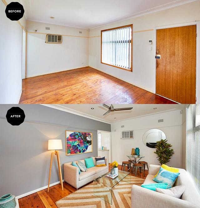 "This [investment property was transformed on a budget](https://www.homestolove.com.au/budget-renovation-of-investment-property-4586|target=""_blank""), and the floors were polished with high gloss with stunning results."