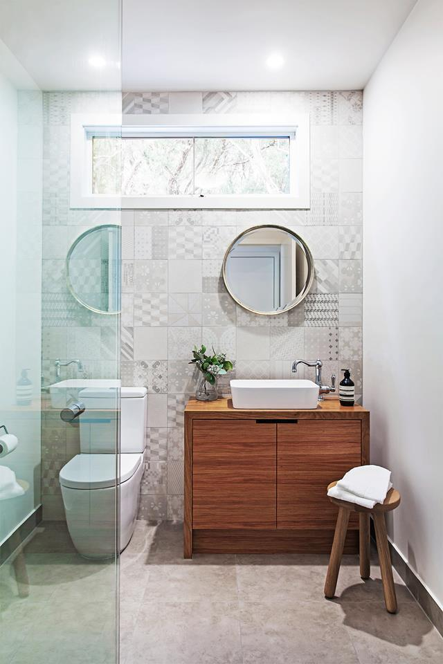 Once your bathroom has been professionally waterproofed, you can try tackling some simple tiling. Photo: Lynton Crabb