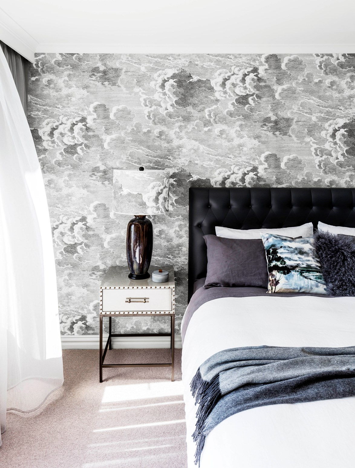 Statement wallpaper will add a designer touch to any room in your home. *Photo:* Felix Forest