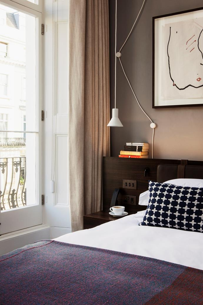 A luxurious and relaxing bedroom in *The Laslett Hotel*. *Photo: Mr & Mrs Smith / bauersyndication.com.au*