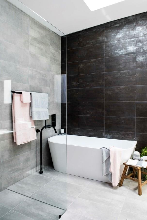 """Mel and Dave's bathroom was called a """"bunker"""" by Laurence. *Photo: 7Plus*"""