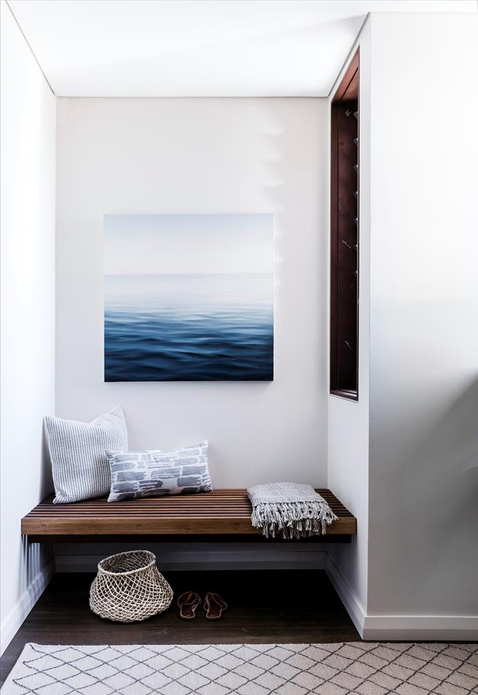 Gill Rocca's artwork references the home's location.