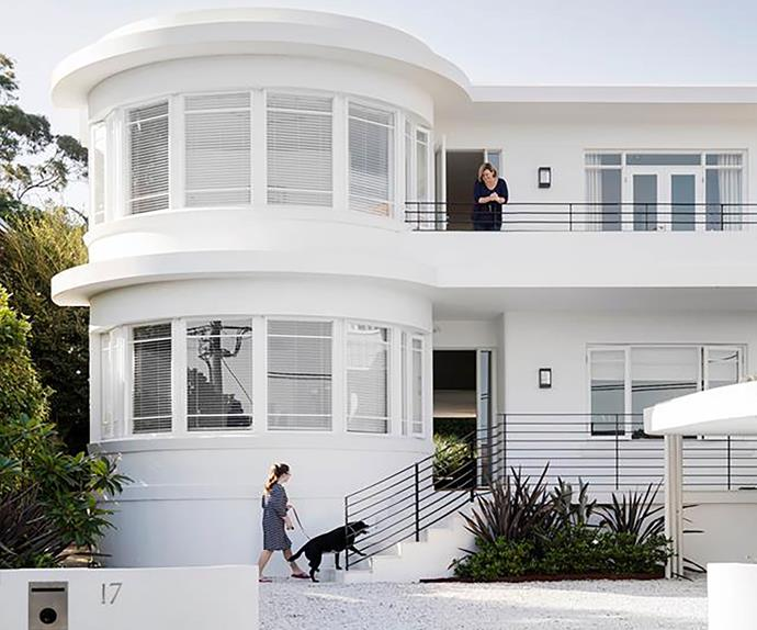 White art deco home in Sydney