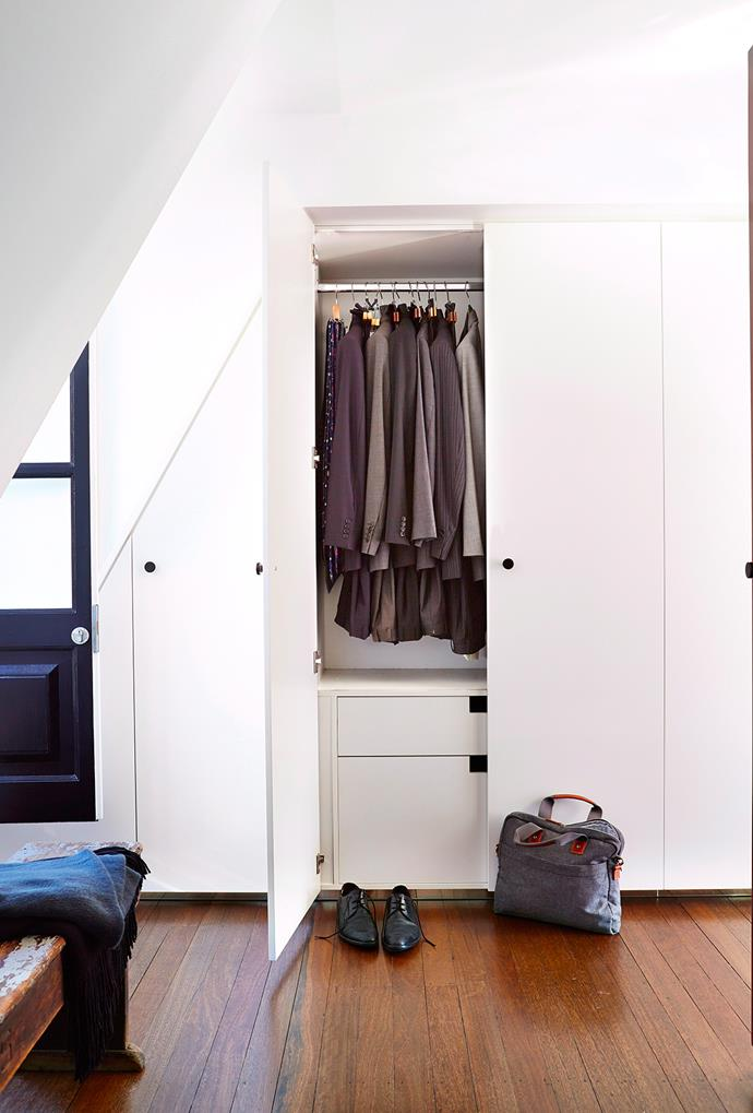 A well-lit wardrobe is the most functional. If you have minimal natural light, opt for cool white tones and white lights, which are better for seeing clothing colours than warmer lighting hues. *Photo: John Paul Urizar / bauersyndication.com.au*