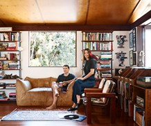 Antone Forte and Allie Webb in their home in Avalon