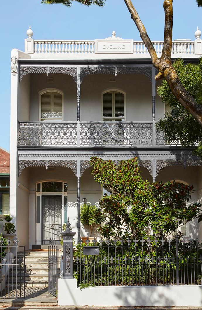 The heritage facade of the house was retained, in keeping with other terrace houses in the street.