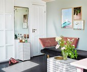 A colourful Scandi summerhouse with a vintage vibe