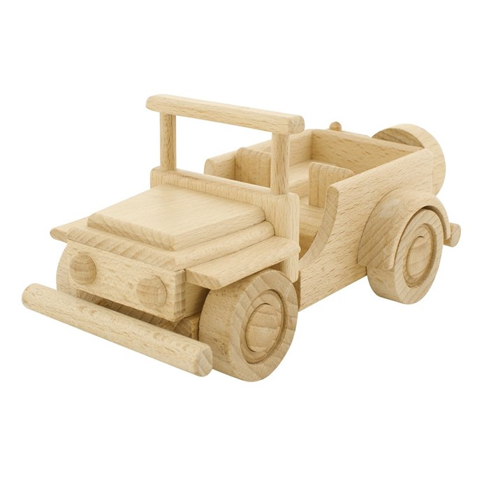 "Ceeda Cavity Wooden Jeep 'Duke', $55, [Happy Go Ducky](https://happygoducky.com.au/collections/all/products/handmade-wooden-jeep-duke|target=""_blank""