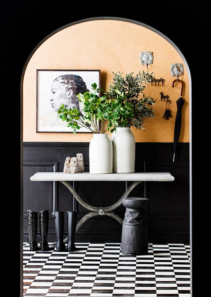 "Checkerboard tiles add sophisticated drama when contrasted against this bold feature wall. *Photo: Maree Homer / Bauersyndication.com.au* <br><br> *Brought to you by [Mirvac](https://www.mirvac.com/|target=""_blank""
