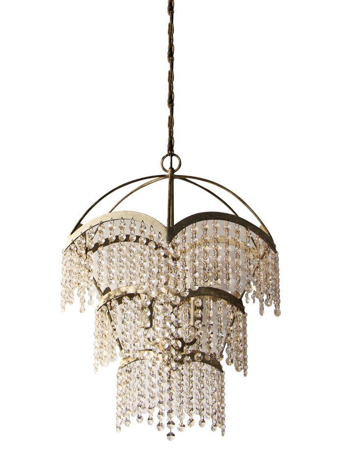 "'Adeline' metal and cut-glass **chandelier**, $959, from [Urban Lighting](https://urbanlighting.com.au/products/adeline-chandelier|target=""_blank""
