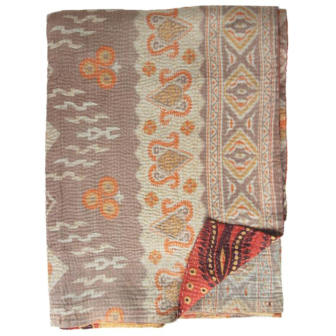 "'Shraavan' vintage **cotton quilt**, $175, from [Bowerhouse](https://www.bowerhouse.com.au/products/vintage-kantha-quilt-shraavan|target=""_blank""