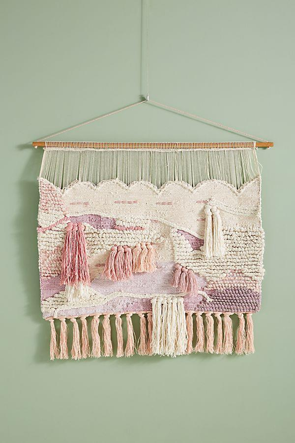 "'Tayah' bamboo-silk and linen **wall hanging** on sheesham-wood dowel, $298, from [Anthropologie](https://www.anthropologie.com/shop/tayah-woven-wall-art?category=SEARCHRESULTS&color=066|target=""_blank""