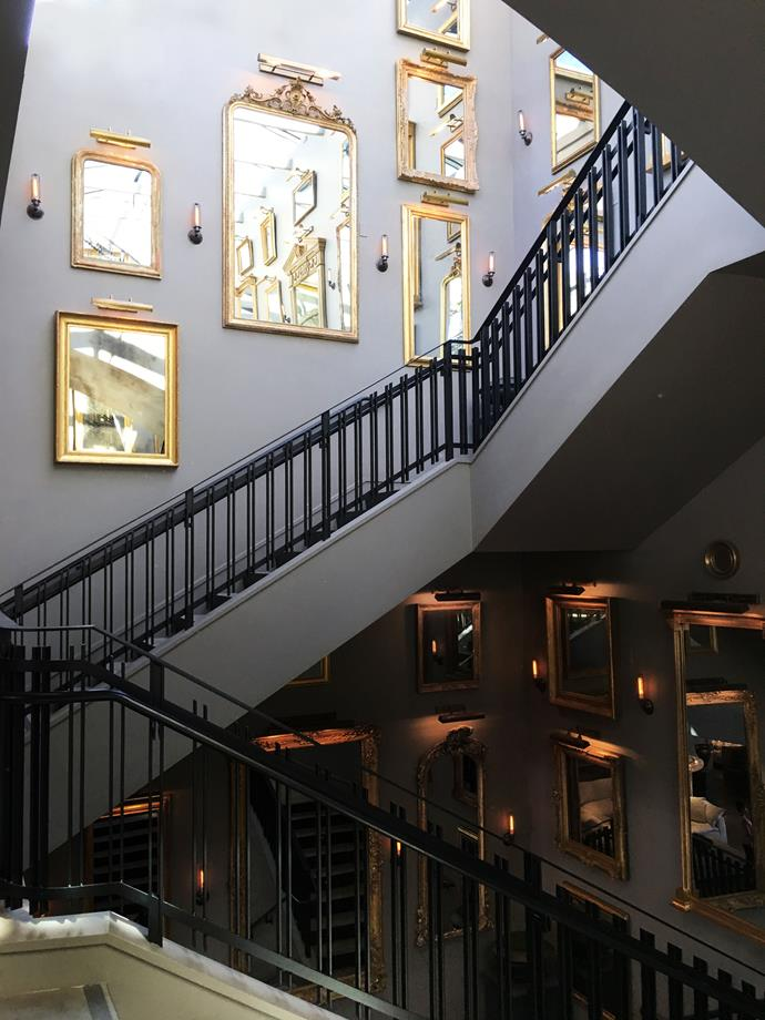 Architecture meshes with the retail experience at Restoration Hardware.