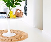 How to style a round rug