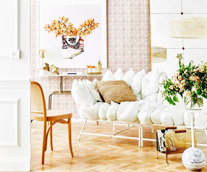 Stylish white dinging room