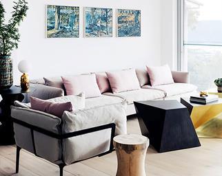 Minimalist style coastal living room
