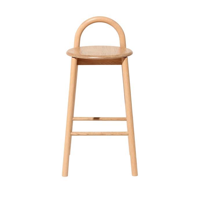 "'Bobby' ash **bar stool**, $595, from [DesignByThem](https://www.designbythem.com/collections/bobby/products/bobby-bar-stool?variant=7824638705692|target=""_blank""|rel=""nofollow"")."