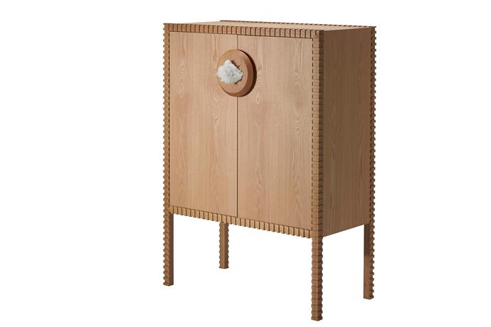 """'Knighthood' American oak **storage cabinet** with quartz handle feature, from $9200, at [Zuster](https://zuster.com.au/zuster-furniture-knighthood-storage-cabinet.html