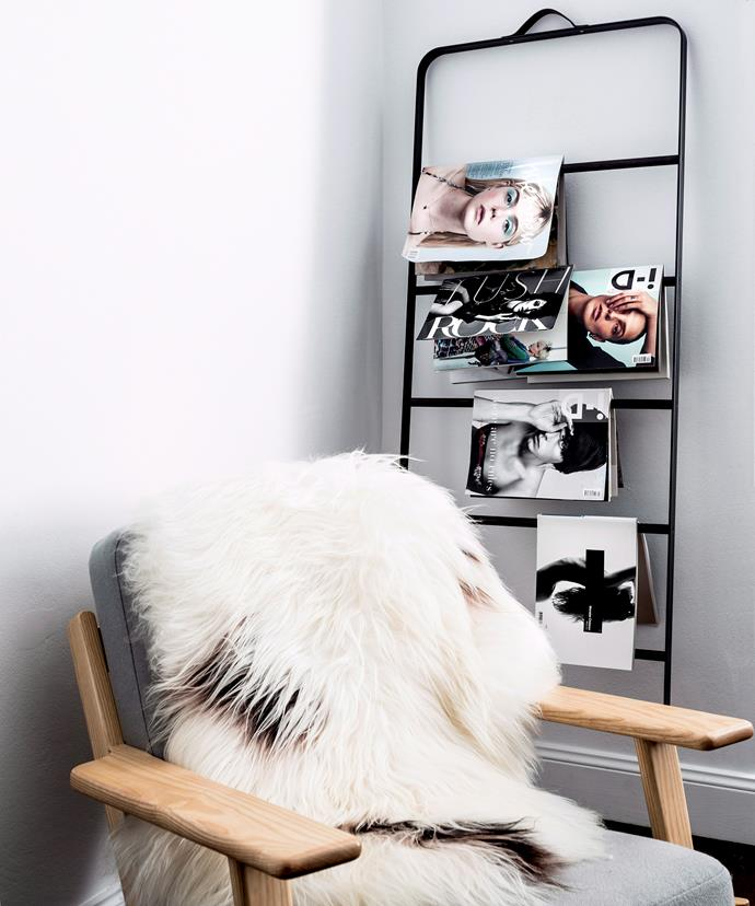 A sheepskin throw is the easiest way to cosy up a cold corner. Photo: Felix Forest / bauersyndication.com.au