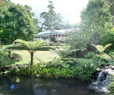 Cascading formal garden on Mount Tambourine